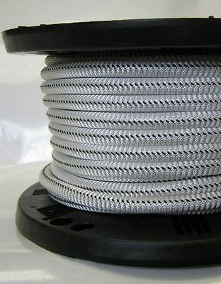 3/8″ 500 ft Bungee Shock Cord White With Black Tracer Marine Grade Heavy Duty