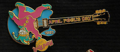 Hard Rock CAFE APRIL FOOLS DAY SPINNING JESTER GUITAR SPINNER SPIN PIN Cafe