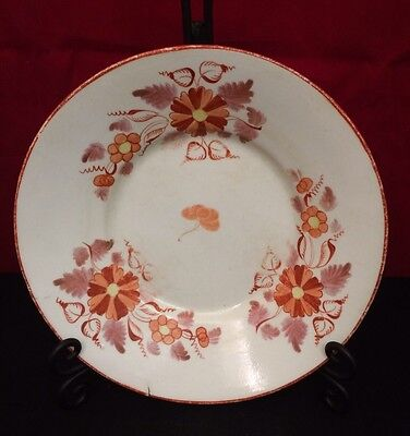 "Porcelain Bowl/Deep Plate 8 1/4"" Hand Painted c1800  English Pearlware"