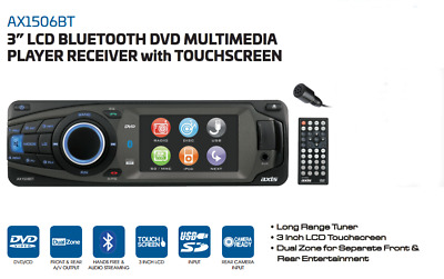Axis Ax1506Bt Lcd Bluetooth Dvd Multimedia Player Receiver With Reverse Camera