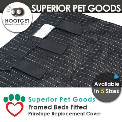 Superior Pet Goods Pinstripe Raised Dog Bed Replacement Cover - XS,S,M,L,XL