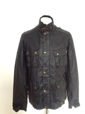 Bellfield Mens Barbour Style Jacket Medium