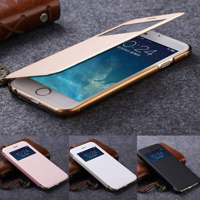 Luxury PU Leather Ultra-thin Flip Case Cover For Apple iPhone X 8 7 Plus 5 6s 5c