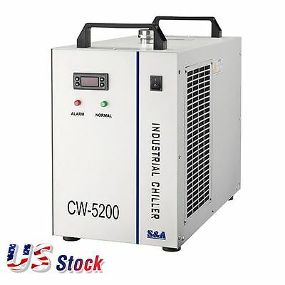 US Stock CW-5200BH Industrial Water Chiller 220V, for CO2 Laser Tubes Cooling