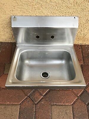 Commercial Stainless Steel Kitchen Hand Wash Sink - Wall Mount