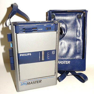 PHILIPS SKY MASTER D 6611 Walkman Player Kassetten Spieler mit Tasche RAR
