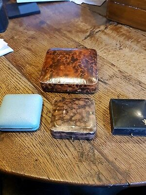 Antique jewellery boxes (4) empty
