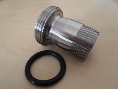 """1.5"""" RJT Male to 1 1/4"""" BSP Male + 1.5"""" RJT Seal Brewery Fitting"""