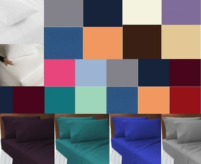 New Small Double 4FT Polycotton Fitted bed Sheets mattress cover deep