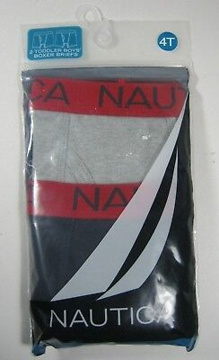 Nautica Boys Boxer Briefs Underwear 2 PC 100% Cotton XS S M L XL 4T New $15