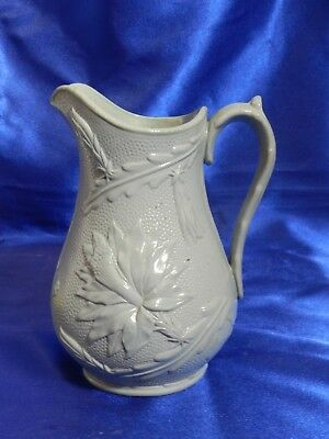 UNIQUE Antique James Dudson Floral Cactus Molded Relief Jug mid-1800s VT1731