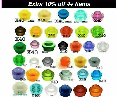 LEGO-#3062 TRANS CLEAR 1 X 1 ROUND BRICK--100PIECES NEW