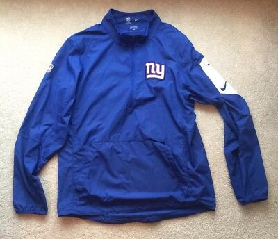 New York Giants NIKE On Field Pullover Jacket 1/2 Zip Mens Small NFL Blue