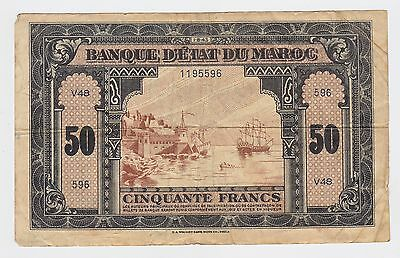 Morocco - 1943, Fifty (50) Francs
