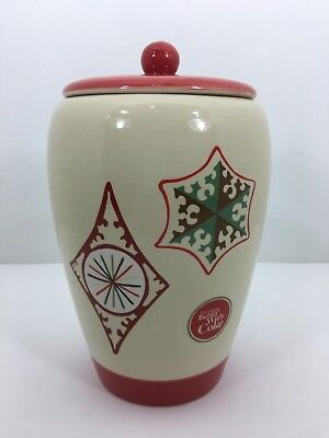 Holiday Winter Christmas Things Go Better with Coke Coca Cola Cookie Jar Vase