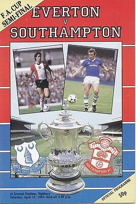 EVERTON v SOUTHAMPTON FA CUP SEMI-FINAL 1984