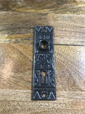 Cast Iron Door Plate Backplate Victorian Decorative Antique Hardware