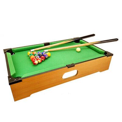 Kids Toy Fun Gift Wooden Mini Snooker Pool Billiard Table Game