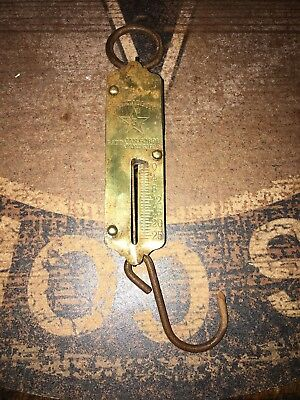 Vintage Chatillon's Hanging Mercantile Scale Brass  25 Lbs