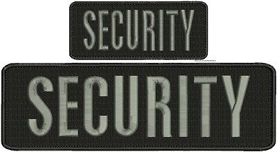 Security embroidery patch 4X10 and 2x5 hook grey letters