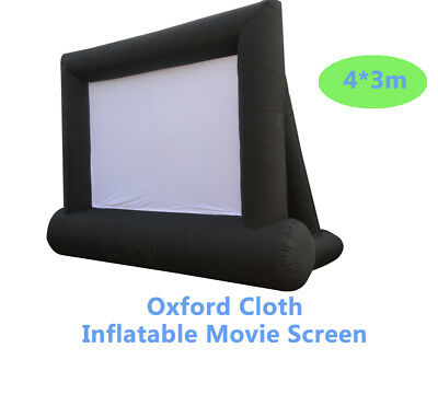 Oxford Cloth Inflatable Movie Screen 4*3m Outdoor Movie Cinema New