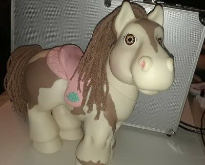 """Vtg 1992 Hasbro Cabbage Patch CPK Pony Horse Crimp & Curl White w Brown Eyes 12"""""""