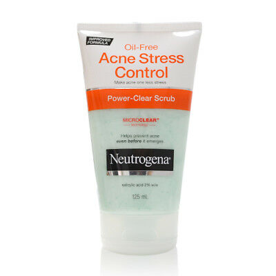 Neutrogena Oil Free Acne Stress Control Power Clear Scrub 125ml