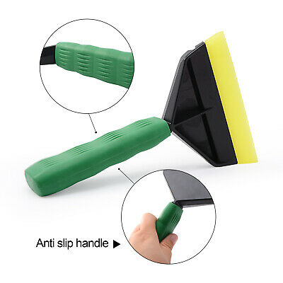Window Tint Vinyl Wrap Tool Squeegee Rubber Handle Grip Car Sticker Film Clean