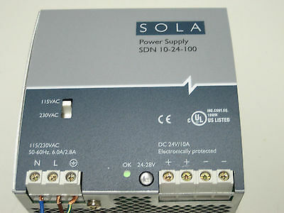 Sola Sdn 10-24-100 Power Supply
