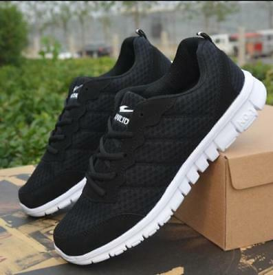 New Fashion Men's Running Breathable Sports Sneakers Flats Casual Athletic Shoes