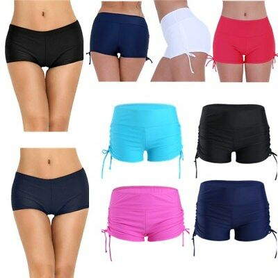 Women's Boyleg Swimwear High Waist Bikini Bottom Swimming  Boardshorts Swimsuit
