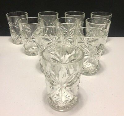 Lot of 10 Anchor Hocking EAPC Prescut Star of David 10oz. Water Tumblers 4 1/2""