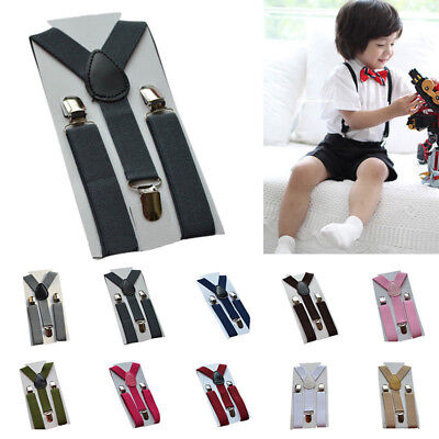 Boys Girls Baby Toddler Kids Clip-on Elastic Braces Suspenders 1-7Years Fashion