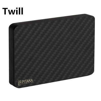 PITAKA Minimalist Magnetic Wallet ,modular Slim Carbon Black Card Holder series