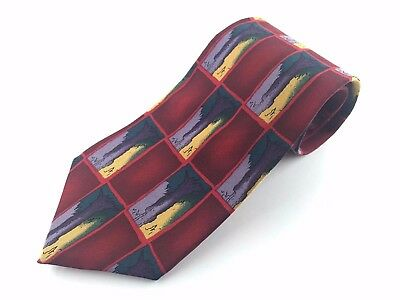 "J. GARCIA Men's 100% Silk ""Tree Trunk Collection Seven"" Tie (Made In USA)"