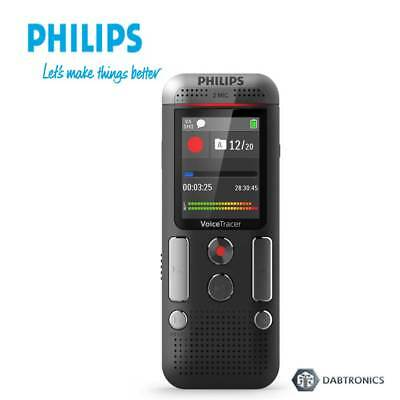 Philips DVT2510 8Gb Voice Tracer Digital Sound Recorder w/2 Mic Stereo Recording