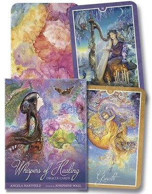 Whispers of Healing Oracle Cards Tarot Deck + Book Angels Nature Josephine Wall