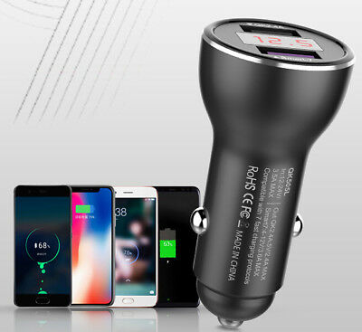 SuperCharge Fast Car Charger For Huawei Mate10 Mate9 P10 P9 Plus Nova Honor 9 V9