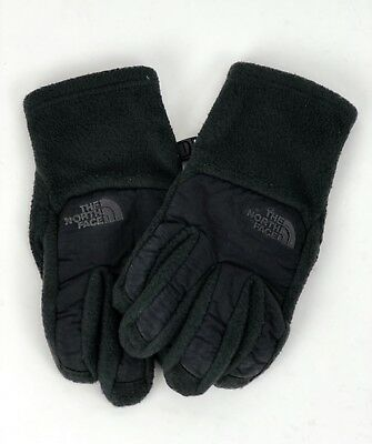 North Face Kid's Youth Denali Gloves Thermal Fleece Boys Green Black Size XS/S