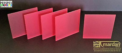 Acrylic Perspex® Red Frost Cut Sheets - Cut Panels