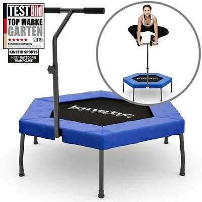 Kinetic Sports Minitrampolin Fitness Hexagon Sechseckig Trampolin Indoor Griff