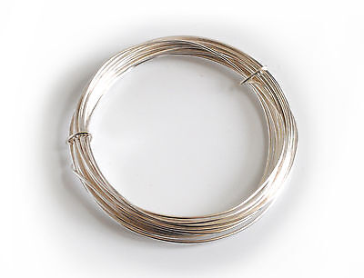 1x Silver Plated Copper Cored Wire 1.2mm x 3m. Hobby, Jewellery, Modelling X1121
