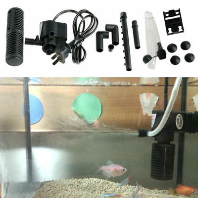 Mini 3 in 1 Plastic Aquarium Internal Filter Fish Tank Submersible Pump US plug