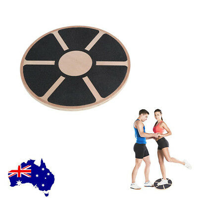 Professional Wooden Balance Board Support Fitness Wobble Physio Pilate Yoga Disc