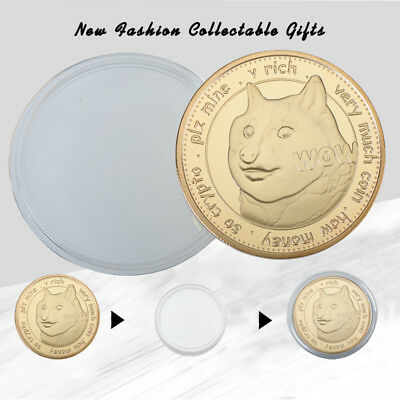 1X Dogecoin (DOGE) To the Moon Very Much Rich Dog Coin Gold Collect Gifts Boy WR