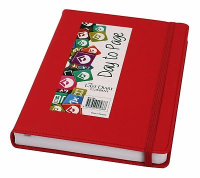 The Last Diary Company 2018 Midi Day To Page A5 Diary - Red - NEW