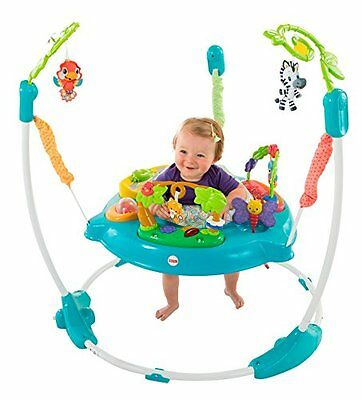 Baby Jump Walker Climb Walk Stand Bounce Music Light Sound Play Safe Friend Blue