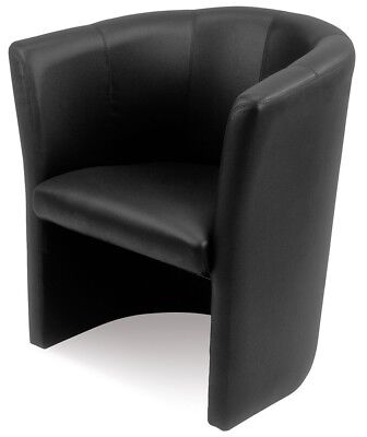 Sessel Club Schwarz Cocktailsofa Couch Modern Lounge Empfang