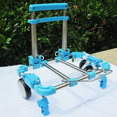 Stainless Steel Luggage Cart Folding Hand Truck Portable Shopping Trolley 1'