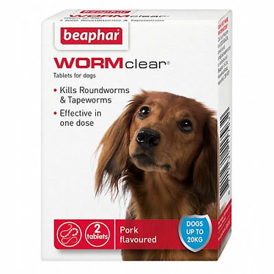 Beaphar WORMclear for Small Dogs up to 20kg Worming Tablets x 2